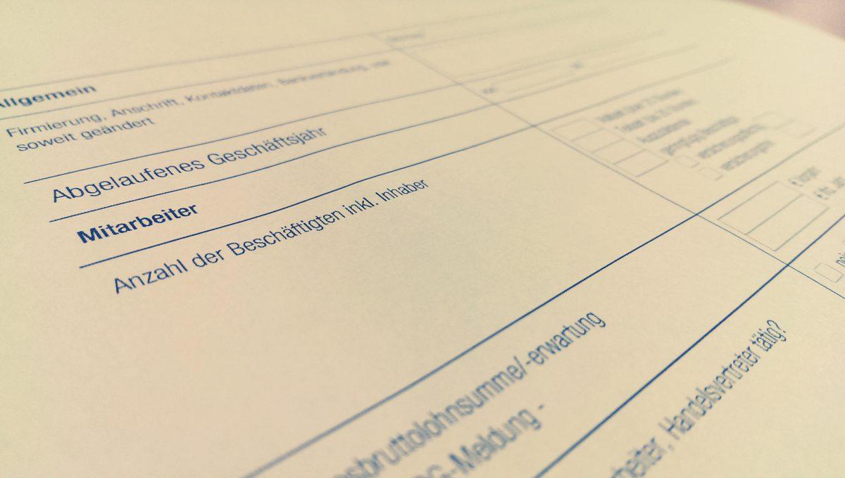 Meldung von Änderungen zur Betriebshaftpflichtversicherung